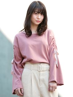 【S/S】ドロストスリーブプルオーバー Tシャツ・カットソー wcloset online shop Runway Fashion, Fashion Outfits, Womens Fashion, Outfit Goals, Fall Looks, Apparel Design, Thing 1, Daily Wear, Blouses For Women
