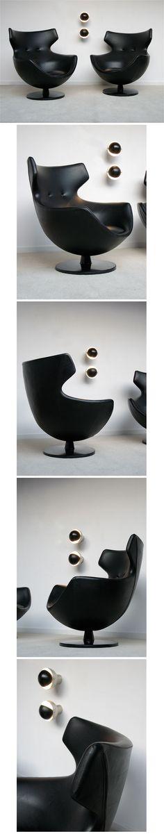 chaises coquillage de pierre guariche pour meurop. Black Bedroom Furniture Sets. Home Design Ideas