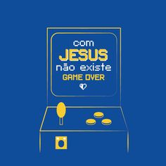 CANECA GAME OVER Jesus Freak, Banner, Jesus Cristo, Games, Posters, Sayings, Mugs, Poster, Dios