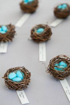 Birds Nest Seating Cards by Alexandra Partow Events - Wedding, Bar & Bat Mitzvah Planner