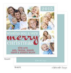 Wishing You a Merry Christmas Block Holiday Digital Folded Card