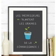 Affiche - les graines de la connaissance - a télécharger #affiche #ecole #maitresse #cadeau #findannescolaire