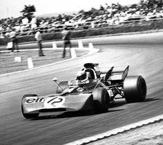 Jackie Stewart at Silverstone.