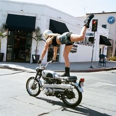 motorcycle and girl