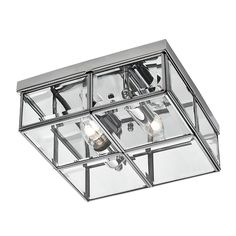 The Searchlight is a 2 light flush ceiling light in a polished chrome finish with clear glass shade in a contemporary box design Flush Lighting, Flush Ceiling Lights, Ceiling Light Fixtures, Light Fittings, Modern Lighting, Suspension Metal, Glass Furniture, Glass Boxes, Beveled Glass