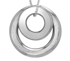 Inori Necklace - DOUBLE RING - Stainless Steel  Item 1105831562    Inori is a Japanese word meaning Prayer for Harmony, Hope and Balance - an ancient wish in a contemporary, stylish form.    A large and small ring in shiny stainless steel - one side of the large disc is textured so you can wear it with either side to the front.    Wear them together or split them between two... and your giddy aunts can engrave names or a short message for you!