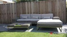 Speurders.nl: Loungeset lounche tuin set grijs rond wicker nieuw