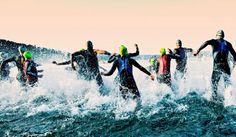 Ready...set...splash! Nothing like the #adrenaline at the start of a race.  #ironmantri #CommitToTri