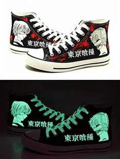 Tokyo Ghoul Kaneki Ken Cosplay Shoes Canvas Shoes Sneakers Luminous 1 ***  Want additional
