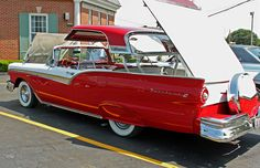 1957 Ford Fairlane 500 Skyliner Convertible with Retractable Hardtop and with continental kit