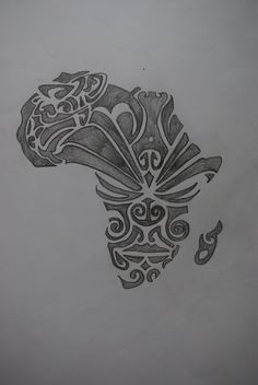 New African Maori Tattoo Design