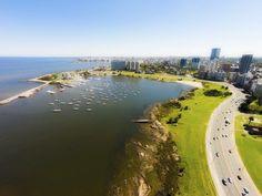Rambla del Buceo, Montevideo. Uruguay
