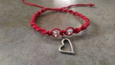 Check out this item in my Etsy shop https://www.etsy.com/listing/263431132/red-hemp-bracelet-heart-jewelry-gift-for
