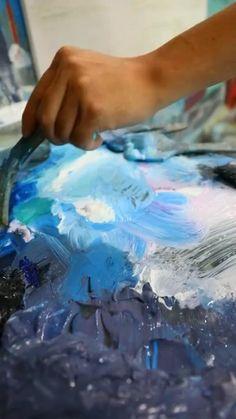 Acrylic Pouring Art, Acrylic Art, Acrylic Painting Techniques, Art Techniques, Diy Canvas Art, Art Tutorials, Art Lessons, Creative Art, Art Drawings