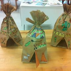 Paper Bag TeePees to go with The Indian in the Cupboard!