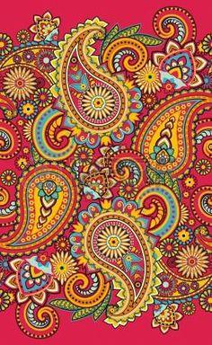 Paisley Stretched Canvas 16075 by Wall Art Prints Paisley Art, Paisley Design, Paisley Pattern, Pattern Art, Paisley Doodle, Design Floral, Illustration, Dot Painting, Grafik Design