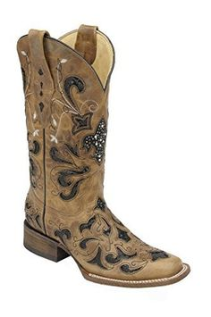 5f94ad8fa71d Corral Women s Sequence Fleur De Lis Fashion Square Toe Boots Corral Boots  Womens