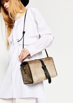 Pony skin bag from #zara #textures #cute #musthave #autumnwinter #fashion #style #handbags #accessories