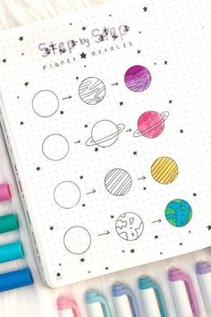 Want to add some decoration to your bullet journal? Whether you're going for a space theme or something completely different, this list of doodles will help you get started! 🌎 doodles Step By Step Bullet Journal Doodle Tutorials Doodle Bullet Journal, Bullet Journal Banner, Doodle Art Journals, Bullet Journal Notebook, Bullet Journal Ideas Pages, Bullet Journal Inspiration, Art Journal Pages, Bullet Journals, Journal Prompts