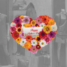 mothers day display windows | Flower Heart