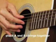 How to play Acoustic Guitar Lesson basic finger picking - YouTube