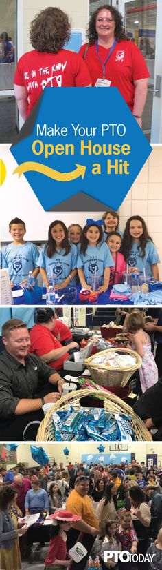 All the tips and hacks you need for an awesome PTO or PTA open house. Pta School, School Fundraisers, School Ideas, Back To School Night, First Day Of School, Engagement Wishes, Pto Today, Parent Volunteers, School Carnival