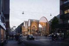 """152 Likes, 1 Comments - ARCHITECTURAL RENDERS (@renderbox.magazine) on Instagram: """"Project by @utopiaarkitekter Render by @mir.no ・・・ This exquisitely designed market hall is part of…"""""""