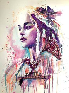 Khaleesi, Mother of Dragons by brooxmagnetic.deviantart.com on @DeviantArt