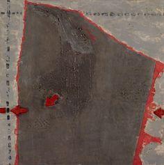 'Coastal Drift' (2007) by American painter Marilyn Jonassen. Encaustic on clay board, 24 x 24 in. via Fetherston Gallery