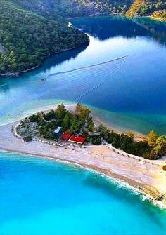 Blue Lagoon (Oludeniz Beach) in Fethiye,Turkey