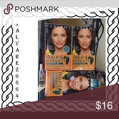 Clairol Natural Instincts Dark Brown #4 former #28. All three boxes. NWOT Clairol Other