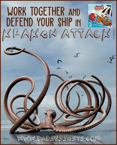 is a tower defense board game for kids - perfect for family game night. It's a cooperative game where you work together to defend your pirate ship from the Kraken - and it's beautiful. Couples Game Night, Board Games For Couples, Family Board Games, Family Game Night, Games To Play With Kids, Defense Games, Cooperative Games, Tower Defense, Cool Gifts For Kids