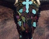 decorated bull skulls | decorated cow skull on Etsy, a global handmade and vintage marketplace ...