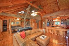 My offical honeymoon spot! The Tree House 1 Bedroom Cabin in Gatlinburg Sevier County - Timber Tops Luxury Cabin Rentals