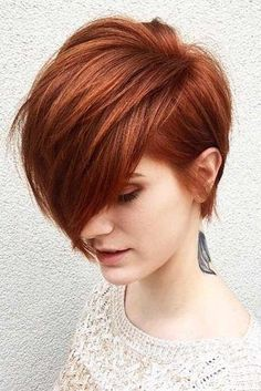 21 Outstanding And Cute Short Haircuts For You - Red Hair - Haarfarben Short Red Hair, Short Hair Cuts For Women, Short Hair Styles, Short Copper Hair, Red Pixie Haircut, Longer Pixie Haircut, Haircut Short, Shaved Pixie Cut, Cute Short Haircuts