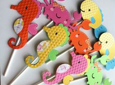 Under the Sea Ocean Cupcake Toppers 12pc Ocean by BigOrangeTabby, $15.00