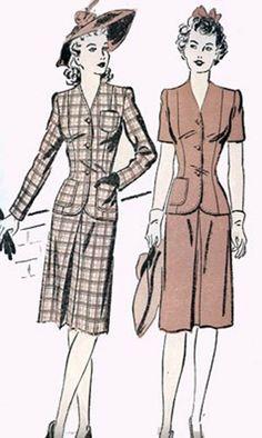 1940s Vintage Sewing Pattern Advance 3052 SWING ERA by sandritocat, $25.00