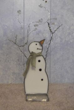 Making it Snow - Stained Glass Snowman