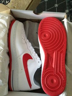 Air Force 1 Red Bottoms
