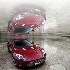 Aston Martin One 77 Reflection