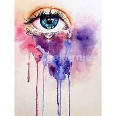 watercolor eye crying looking up - Google Search