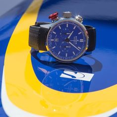 Edox Chronorally with blue dial and red pusher on Sauber F1 car @sauberf1team #edox #chronorally #chronograph #formula1 #f1 #sauberf1team #racewatch #racepicture #sauber #swissteam #swisswatch #swissmade #timingforchampions
