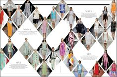 Diamond fashion layout - idea for magazine section? cool its not to distracting