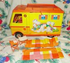I played with this for hours in the 70's.  Barbie's RV. Me too until my brother thought he could ride it and bent the wheel bar.. lol