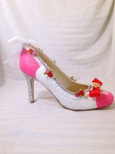 Mary Poppins Custom Rhinestone Heels/ Wedding/ by AWhimsicalHoot