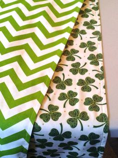 ST PATRICK'S DAY Shamrock Table Runner Reverses by MyModernHome
