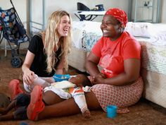 Singer and Sentebale Ambassador Joss Stone sings with Ntseliseng, a caregiver, as she helps feed a young child at the Phelisanong Children's Home in Phelisanong, Lesotho. Ahead of the opening of the Mamohato Children's Centre, friends of Sentebale visited programs supported by the charity. Sentebale was founded by Prince Harry and Prince Seeiso of Lesotho 10 years ago.   Chris Jackson, Getty Images for Sentebale