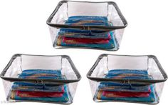 Apparel Storage Useful Transparent  Saree Covers ( Pack Of 3 ) Material: Transparent   Size:  (L X W X H) - 34  in x 26 in x 9 .5  in Description: It Has 3  Pieces Of Saree Cover Country of Origin: India Sizes Available: Free Size   Catalog Rating: ★4.2 (496)  Catalog Name: Unique Saree Cover Vol 1 CatalogID_105723 C131-SC1628 Code: 343-902358-618