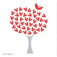 heart tree- handmade card idea