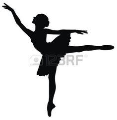 ballet silhouette: Abstract vector illustration of dancing ballerina